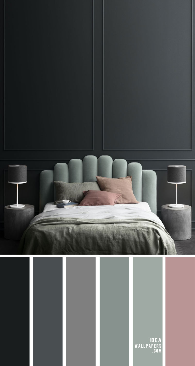 25 Best Color Schemes For Your Bedroom { Grey Sage With Hint of Mauve }
