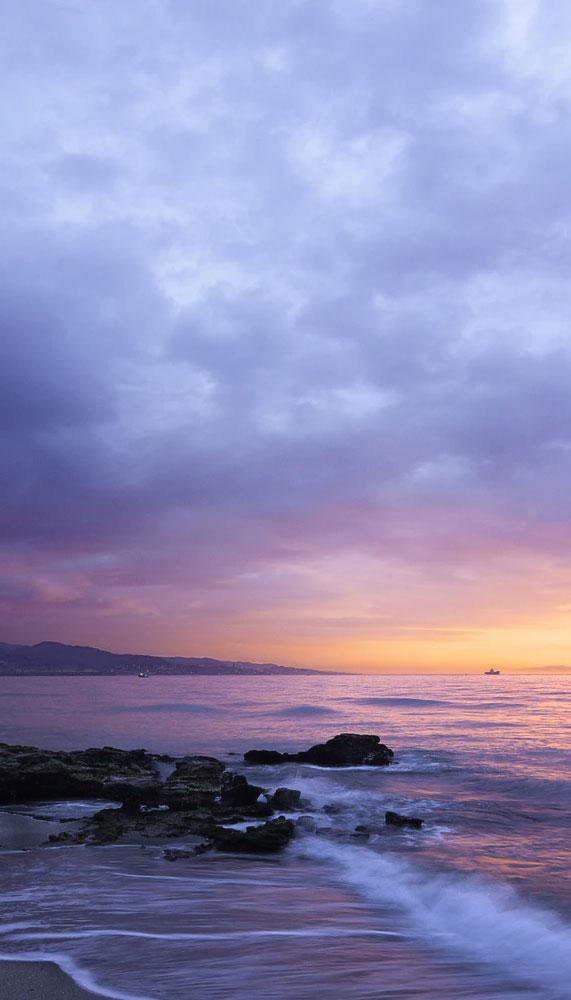 Waves and sunset…soooo beautiful