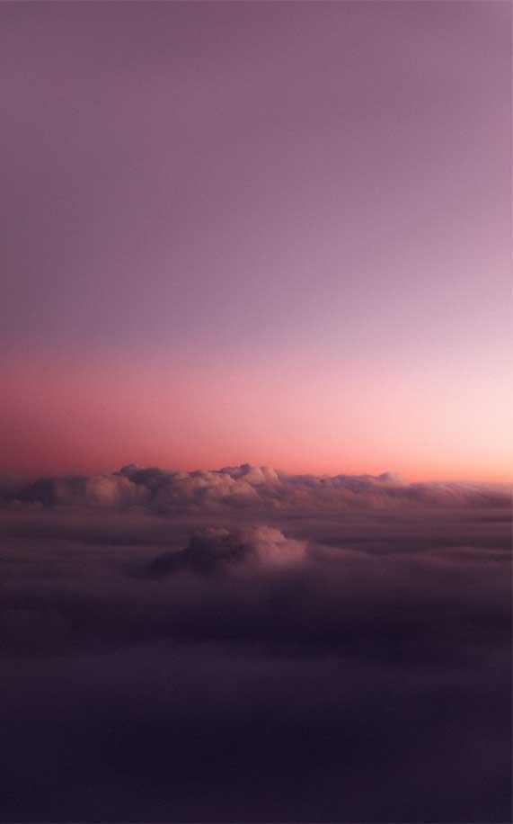 Sea of cloud in mauve color