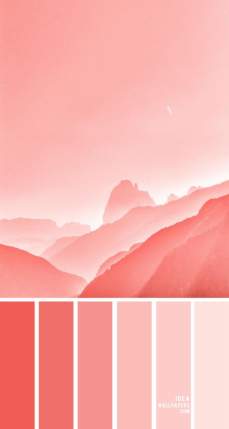 Pink Coral Hued Color Palette