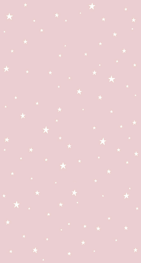 White stars on pink background
