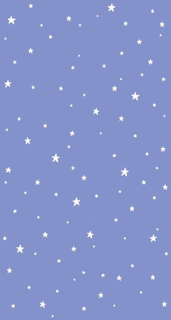 White stars on blue periwinkle background
