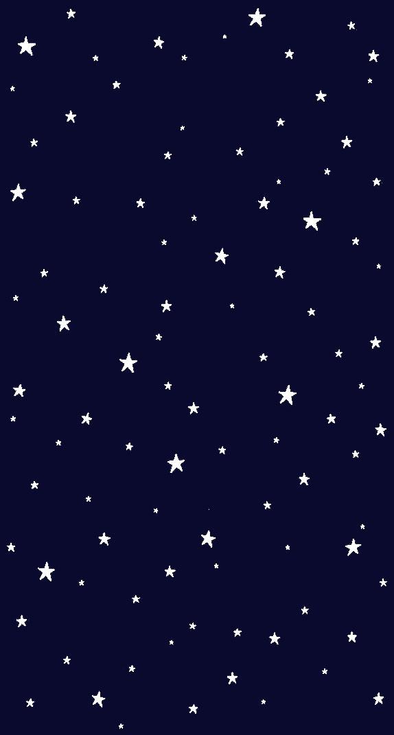 White stars on midnight blue background