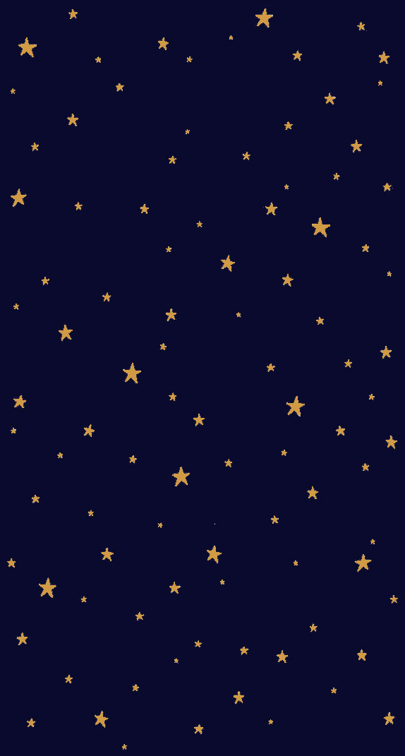 Gold stars on midnight blue background