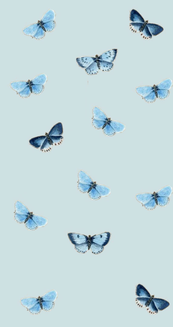 Blue Butterflies iphone wallpaper