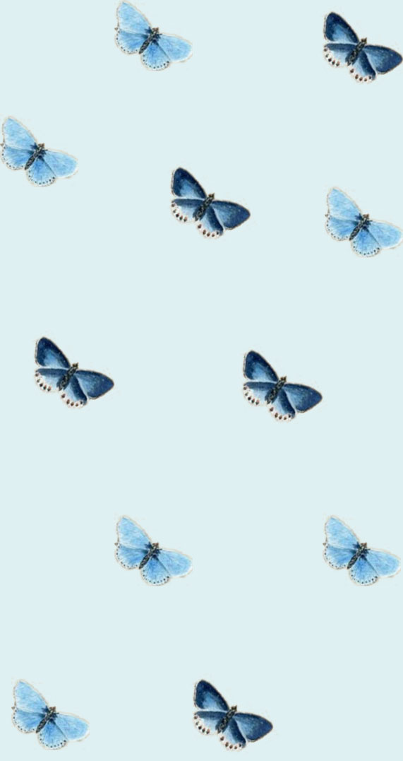 Pretty lock screen with butterflies on it