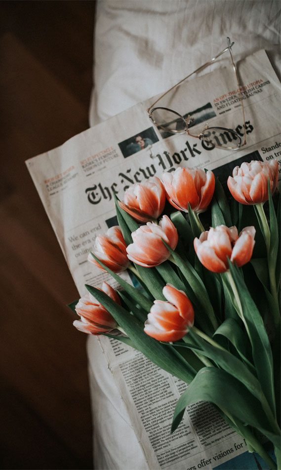 The New York Times & Tulips