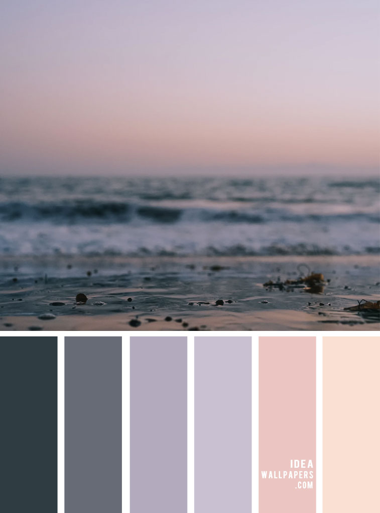 Color Palette 143 { Grey and Lavender color scheme }