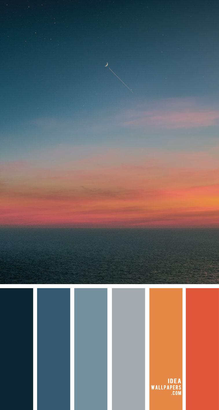 Color Palette 146 { Dark blue and Turmeric Color Scheme }