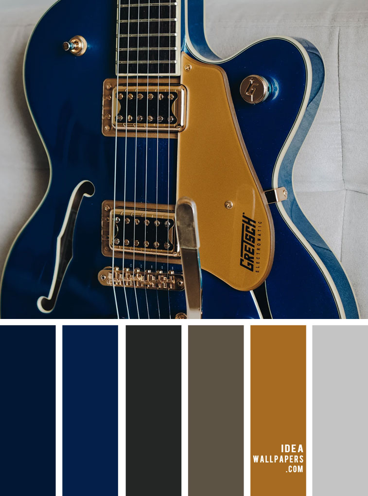 Color Palette no. 141 { Blue and Gold Color Palette }