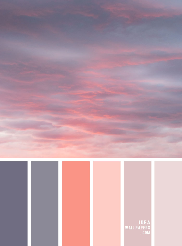 Color Palette no. 142 { Grey + Salmon Pink Color Combos }