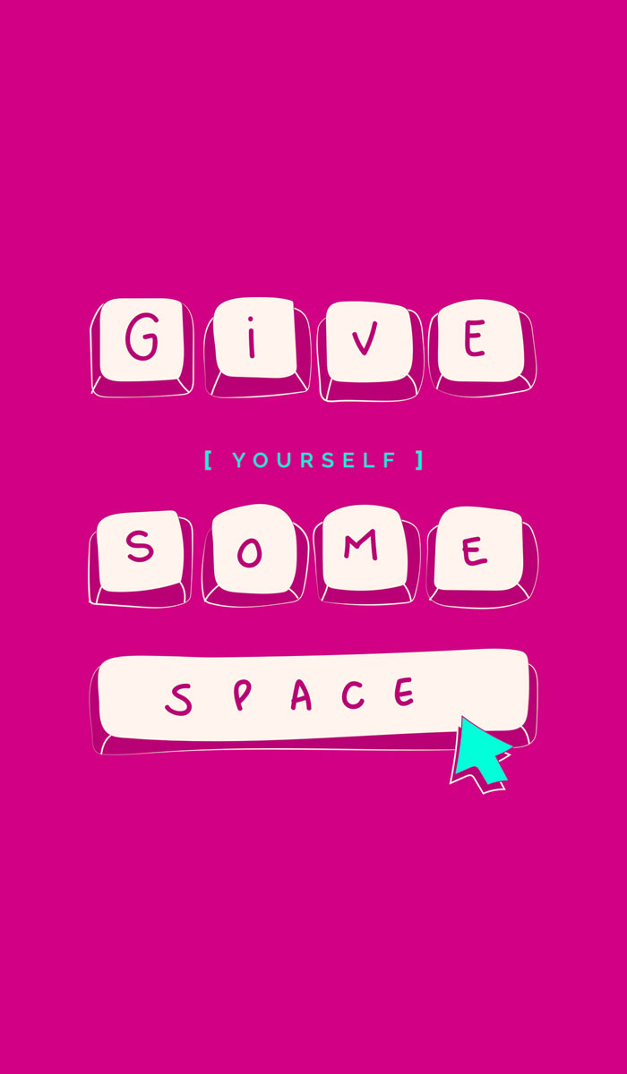 Give some space iphone wallpaper
