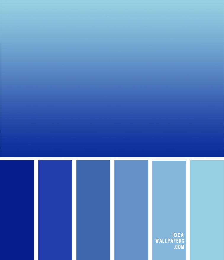 Color Palette 147 { Ombre Blue Color Palette }