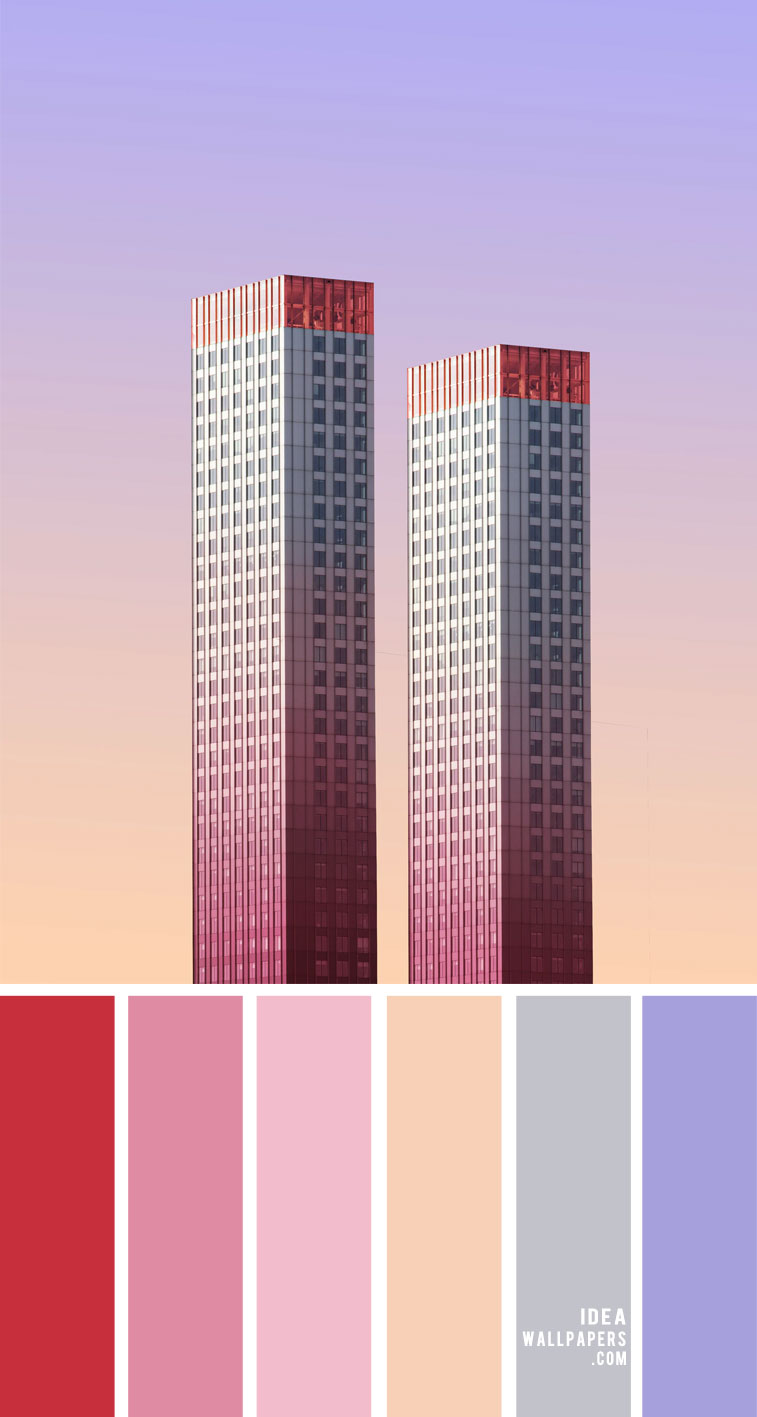 Ombre Pink , lilac, peach and grey – Color Palette 158