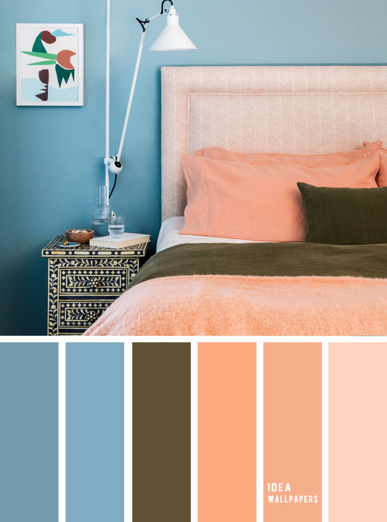 10 Best Color Schemes For Your Bedroom Blue Peach Teal And Peach